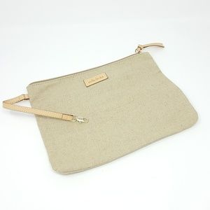 Stella & Dot Natural Bag with Leather Trim